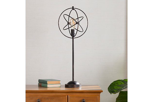 Industrial Dresha Orb Table Lamp, , large