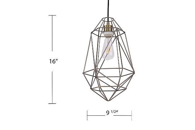Transitional Madrigal Geometric Pendant Light, , large