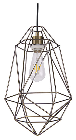 Transitional Madrigal Geometric Pendant Light, , large