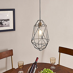 Transitional Madrigal Geometric Pendant Light, , rollover