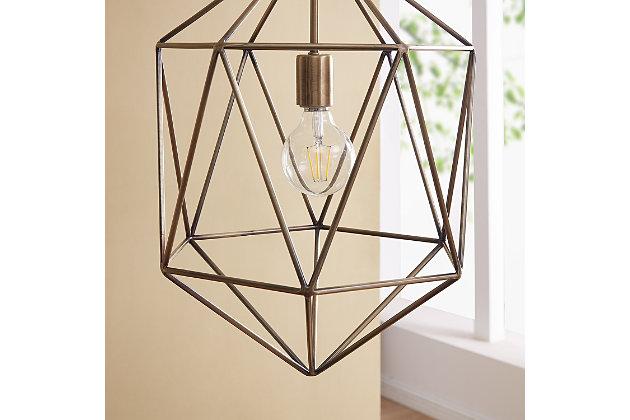 Transitional Petra Geometric Pendant Light, , large