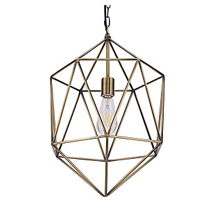 Transitional Petra Geometric Pendant Light, , large