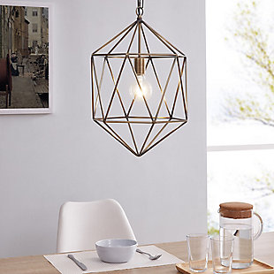 Transitional Petra Geometric Pendant Light, , rollover