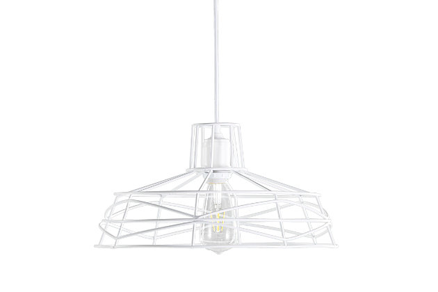 Transitional Perea Wire Cage Pendant Light, , large