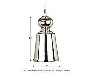Lafitte Mercury Glass Long Pendant, , large