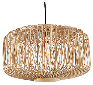 Natural Gennta Pendant Light, , large