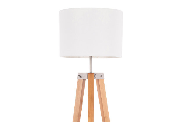 Mid Century Modern Floor Lamp with Shelf, , large