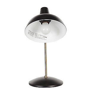 Contemporary Table Lamp, Black/Gold Finish, large