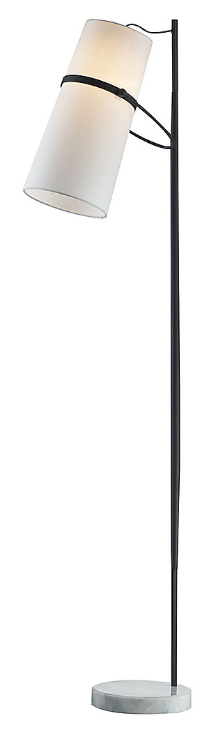 Modern Banded Shade Floor Lamp, , large