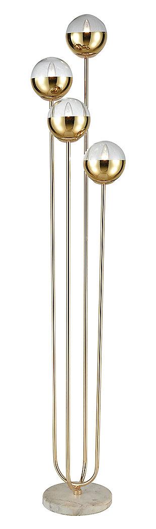 Contemporary Haute Floreal 4-Light Floor Lamp, , large
