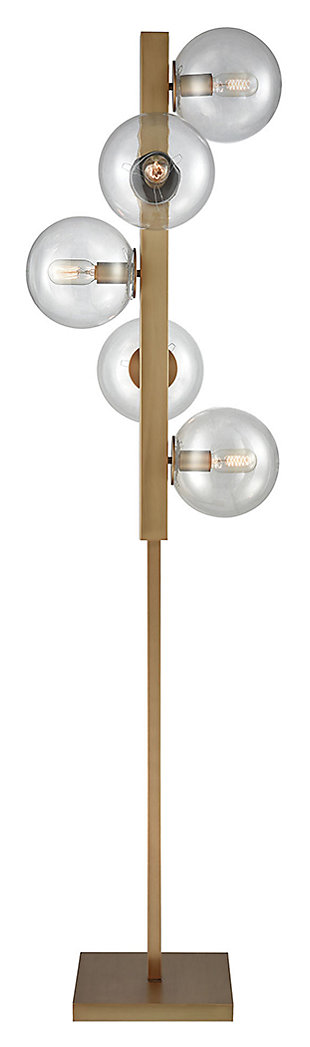 Contemporary Prospect Ave 5-Light Floor Lamp, , large