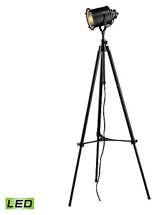 Industrial Ethan Adjustable Tripod LED Floor Lamp, , large