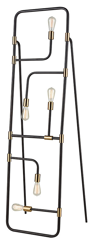 Contemporary Think Tank 5-Light Floor Lamp, , large
