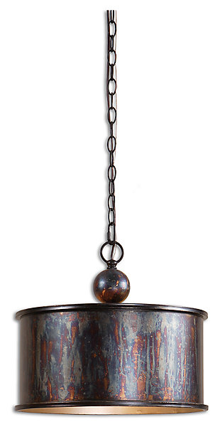 Oxidized Metal Drum Pendant, , rollover
