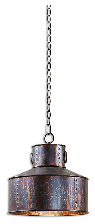 Oxidized Metal Pendant, , large