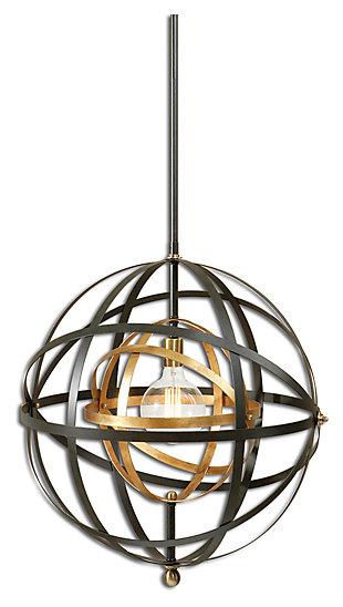 Metal Sphere Pendant, , large