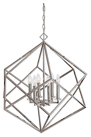 Geometric Crystal Candle Cluster Chandelier, , large