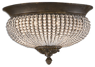 Beaded Glass Flush Mount Light, , large