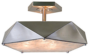 Geometric Semi Flush Mount Light, , large