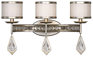 Crystal Champagne Leaf Vanity Light, , large