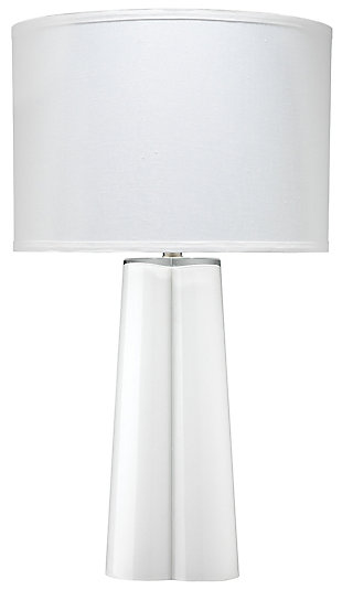 Clover Shaped Table Lamp with Linen Shade, , large