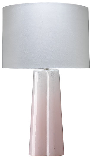 Clover Shaped Table Lamp with Linen Shade, , rollover