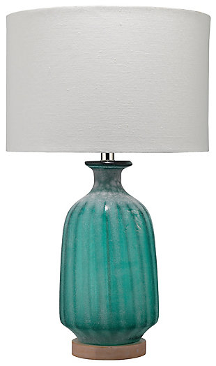 Frosted Glass Aqua Table Lamp, , large