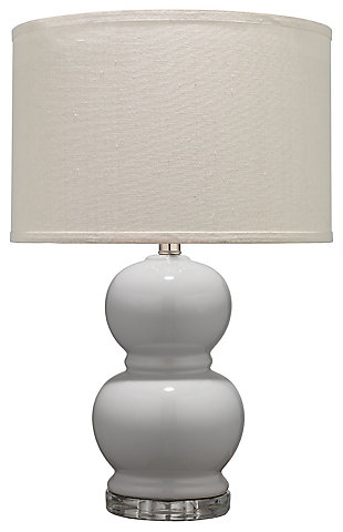 Bubble Ceramic Table Lamp with Drum Shade, , rollover