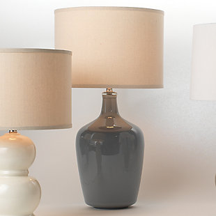 Jar Table Lamp with Drum Shade, , rollover