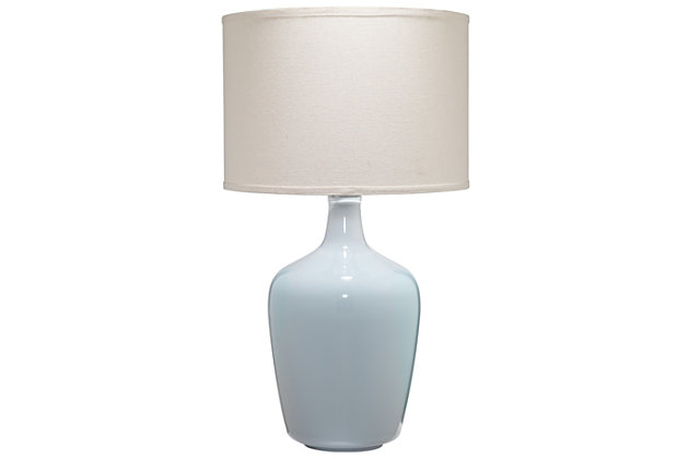Jar Table Lamp with Drum Shade, , large