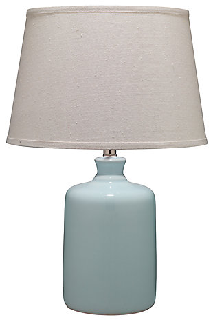 Milk Jug Table Lamp with Tapered Shade, , large