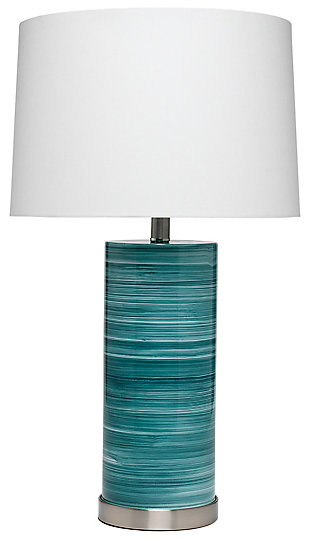 Swirling Glass Casey Table Lamp, , rollover