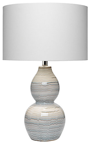 Double Gourd Catalina Wave Table Lamp, , large
