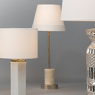 Marble Darcey Table Lamp with Tapered Shade, , rollover