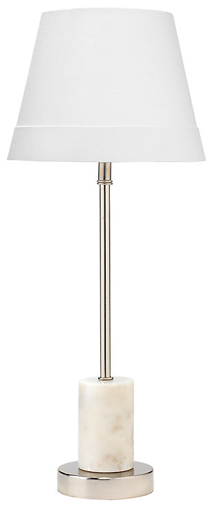 Marble Darcey Table Lamp with Tapered Shade, , large