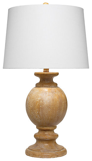 Faux Wood Finish Faye Table Lamp, , large