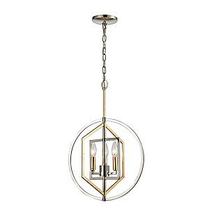 Steel Geosphere 3-Light Pendant, , large