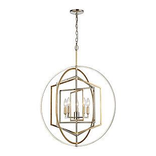 Steel Geosphere 5-Light Pendant, , large