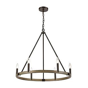Steel Transitions 6-Light Chandelier, , rollover
