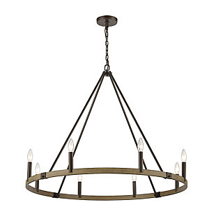 Steel Transitions 8-Light Chandelier, , large