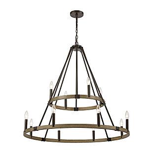 Steel Transitions 12-Light Chandelier, , large