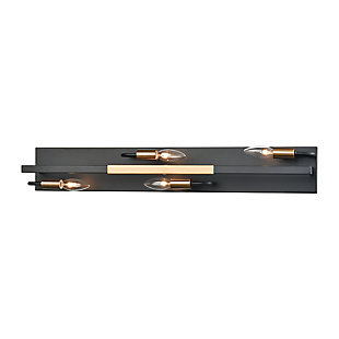 Steel Heathrow 4-Light Vanity Light, , rollover