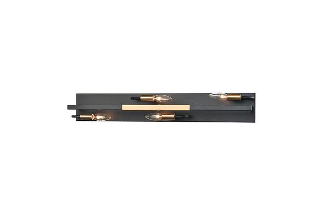 Steel Heathrow 4-Light Vanity Light, , large