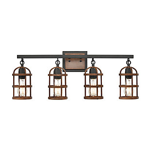 Steel Millville 4-Light Vanity Light, , large