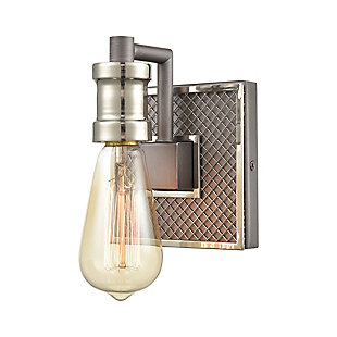Steel Gridiron Vanity Light, , large