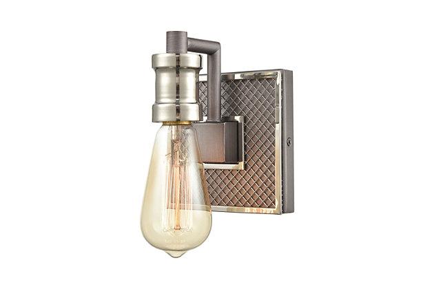 Steel Gridiron Vanity Light, , large