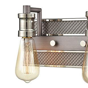 Steel Gridiron 2-Light Vanity Light, , rollover