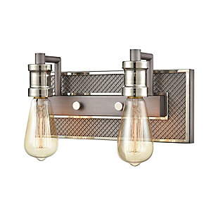 Steel Gridiron 2-Light Vanity Light, , large