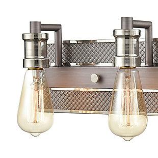 Steel Gridiron 3-Light Vanity Light, , rollover