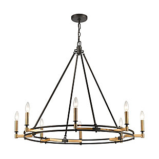 Steel Talia 8-Light Chandelier, , rollover